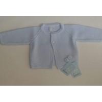 chaqueta niño celeste pompones GRANLEI  1146