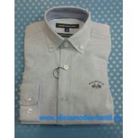 camisa niño SPAGNOLO azul estampada oxford