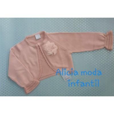 chaqueta hilo rosa palo manga francesa GRANLEI  595