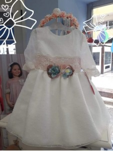 Vestido ceremonia plumeti media manga LILUS 26193