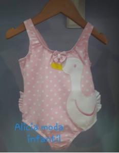 Bañador niña pato rosa sardon 1023A