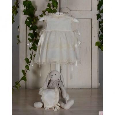 LILUS vestido de bautizo con capota ref 23195